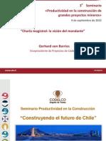 Charla Magistral La Vision Del Mandante Gerhard Von Borries Codelco