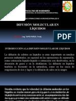 3. Difusión Molecular en Líquidos