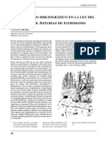 El Patrimonio Bibliográfico en La Ley Del Principado de Asturias de Patrimonio Cultural