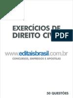 Editaisbrasil Exercicios Direito Civil Ed 01