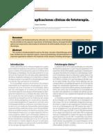 Fototerapia aplicaciones