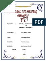 Perfil Lipidico Práctica Ac