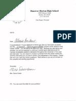 career center letter