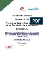 PROYECTO PARA EL DESARROLLO DE CAPACIDADES DEL CLÚSTER DE TECNOLOGÍAS DE LA INFORMACIÓN TLAXCALA, A.C.