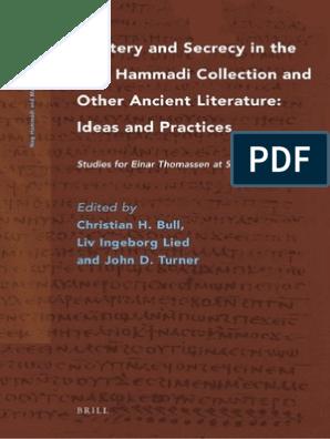 Nag Hammadi And Manichaean Studies 76 Ideas And Practices