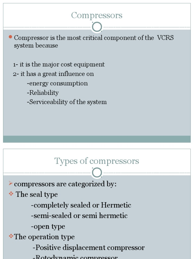 HVAC1.ppt | Gas Compressor | Heat Exchanger