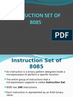 8085 Instruction Set (1)