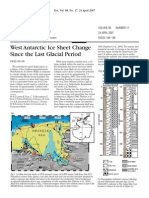 West Antarctic Ice Sheet Change Since the Last Glacial Period