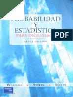 Probabilidad y Estadística Para Ingenieros 6 Ed - Walpole (Esp)