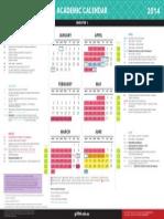 2014 Academic Calendar Semester 1