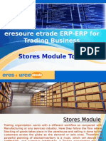 eresource etrade ERP   ERP For Trading Business   Stores Module Tour