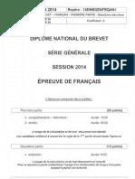 BREVET Francais 2014