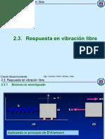 2.3 Respuesta en Vibracion Libre