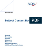 Aqa Gcse Science Content Book