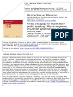 A New Pedagogy for Explanatory Public Speaking