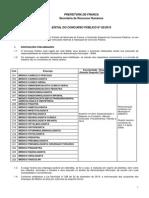 PREFEITURA DE FRANCA Secretaria de Recursos Humanos EDITAL DO CONCURSO PÚBLICO N° 02/2015