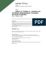 Questionsvives 699 Vol 7 n 14 Analyser Les Entretiens Biographiques l Exemple de Recits d Insertion