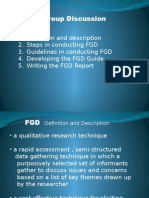 Focus Group Discussion PPT