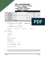JEE Advanced 2016 Mock test paper