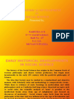 EARLY HISTORICAL DEVELOPMENT IN SOCIAL SCIENCE