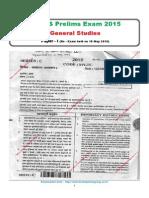 UPPCS Prelims Re- Exam 2015 General Studies (Paper - I).PDF