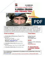 CIA Columbia Obama Treason Trial (Full Page) Flyer