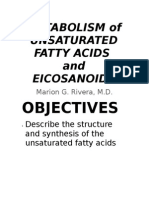 Metabolism of Unsaturated Fatty Acids and Eicosanoids
