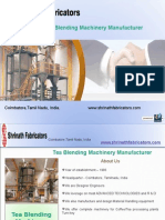 Tea Blending Machinery Manufacturer