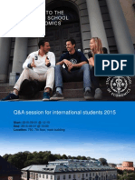 SSE Q&A Session for International Students