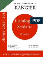 Catalogue Scolaire Primaire