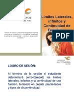 PPT Sesión 05 - Limites Infinitos y Continuidad de Funciones 2015
