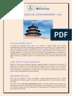 Curso básico de chino mandarin.
