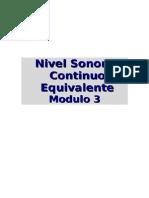 Modulo 3 Nivel Sonoro Continuo Equivalente