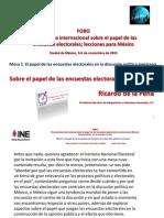 Sobre el papel de las encuestas electorales en México