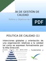 Sistema de Gestión de Calidad_politica y Objetivos de Calidad
