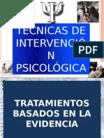TECNICAS TERAPEUTICAS PSICOLOGICAS
