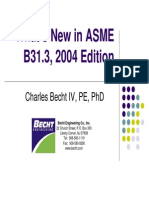 Whats New in ASME B31 3
