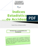 INDICES ESTADISTICOS DE ACCIDENTES