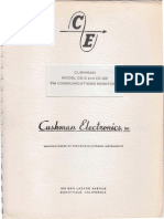 Cushman Model CE-2 and CE-2B FM Communication Monitors