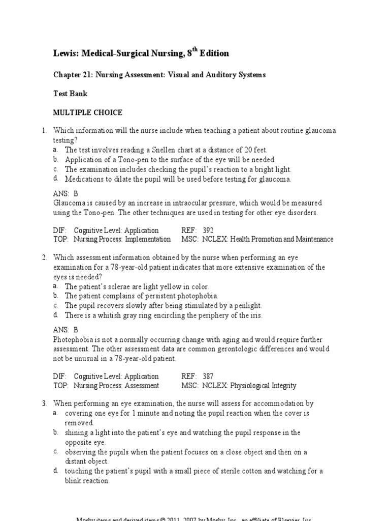 Chapter 021 national council licensure examination human eye nvjuhfo Image collections