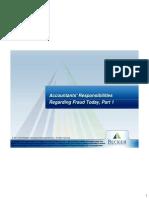 Accountants' Responsibilities Regarding Fraud, Part 1