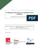 Sancho, Cid, Fernandez- La Biologia Como Interes, Enseñanza Como Profesión