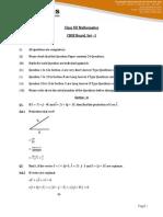 Mathematics Solution 2015 Set 1