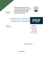 distribución actual de la población venezolana