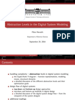 Abstraction Levels in the Digital System Modeling