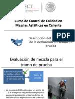 Descripción Del Procedimiento de La Evaluación Del Tramo de Prueba