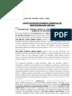 Empresa Minera s.r.l. (Escritura Constituc