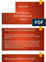 apa reference page tutorial