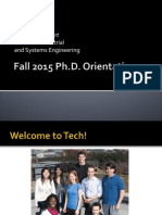 Fall 2015 PhD Orientation