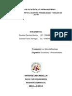 Trabajo de Estadística y Probabilidades
